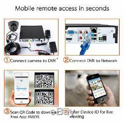 Blupont 1TB Full HD 1080P 4 CH Channel DVR CCTV Recorder+4x HD Cameras System UK
