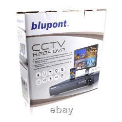 Blupont 4 Channel CCTV DVR Recorder 1080P HD Home Outdoor Security Camera System