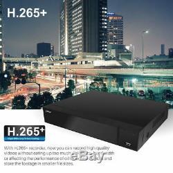 Blupont 5MP 4K HD 8CH CCTV Recorder DVR 2TB HDD+8x Dome Camera Security System
