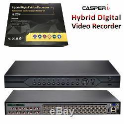 CASPERi CCTV 32 Channel DVR VGA HDMI 1080P AHD H. 264 Digital Video Record System