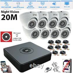 CCTV 4CH 8CH 1080P DVR Recorder Cameras Outdoor Night Vision Security System Kit