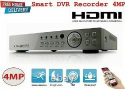 CCTV 8CH DVR Full HD 3MP 4MP 1080P P2P Remote View Home Security System+ 1TB HDD