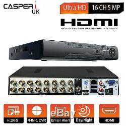 CCTV CASPERi DVR Security Video Recorder Smart 16 Channel 5MP Full HD HDMI H. 265