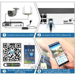 CCTV Camera 8CH 1080 Security Alarm System 2Way Audio Digital Video Recorder