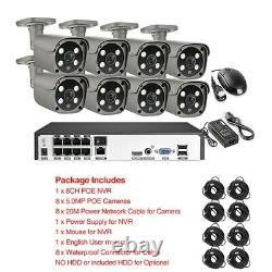 CCTV Camera 8CH 1920 Security Alarm System 2Way Audio Digital Video Recorder