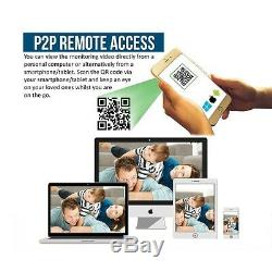CCTV Full HD DVR Record 1080N Email Alert P2P Remote View Home Security System