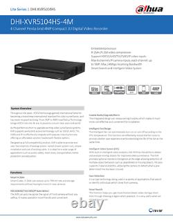 Dahua XVR 5104HS-4KL-X 4 Channel DVR CCTV Recorder 4 in 1 HDCVI/AHD/TVI/CVBS/IP