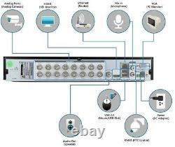 Deatti 16 Channel CCTV DVR Recorder 2TB HDD inc