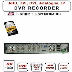 Dvr Recorder Cctv 1080p 8-channel 8 Audio Hybrid Ahd CVI Ip Hdtvi Bnc Output
