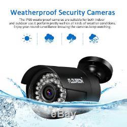 FLOUREON 1080N 4/8CH 5IN1 DVR Recorder Security Camera System IR Night CCTV Kit