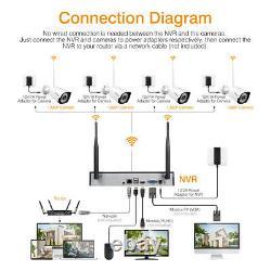 FLOUREON 8CH 1080P 3000TVL DVR Recorder Outdoor Security Camera NVR System Kit