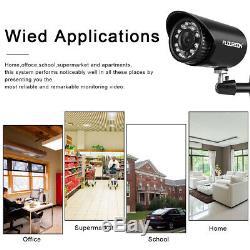FLOUREON 8CH CCTV Security DVR Recorder 1500TVL Home Outdoor Surveillance System