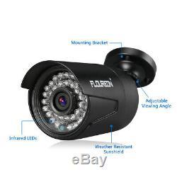 FLOUREON CCTV 8CH 1080N AHD DVR Recorder 4X 1080P Camera Security Kit +1TB HDD