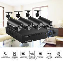 FLOUREON Home Security System 4/8CH 1080N CCTV DVR 1500TVL Outdoor IR AHD Camera