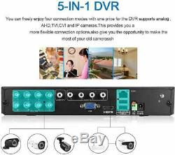 FLOUREON Smart CCTV DVR 8 Channel AHD 1080N Video Recorder P2P HDMI VGA BNC