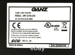 GANZ Digimaster DR-16FX5-3TB 960H Real Time 16-Channel CCTV Recorder / DVR