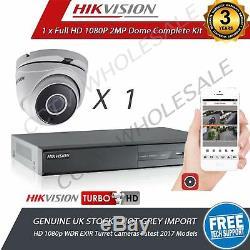 HIKVISION 4Ch Dvr Recorder 1 HD TVI 1080p Cameras HD CCTV Camera System 1TB HDD