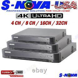 HIKVISION 4 8 16 32 Channel DVR HDMI Turbo HD 2MP TVI Camera Video Recorder