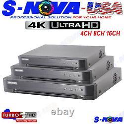 HIKVISION 8 16 32 Channel DVR HDMI Turbo HD 4MP TVI Camera Video Recorder