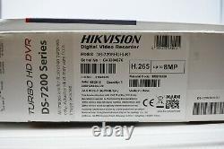 HIKVISION CCTV Turbo HD DVR DS-7208HUHI-K1 8 Channel 4K 8MP H. 265 NEW