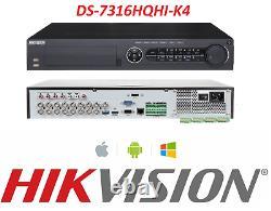 HIKVISION DS-7316HQHI-K4 16Channel Turbo HD Hybrid 4K DVR Digital Video Recorder