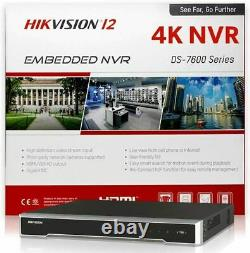 HIKVISION DS-7608NI-I2/8P 8 Channel NVR 12MP 4K POE IP Network Recorder P&P 2 HD