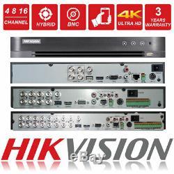 HIKVISION FULL HD CCTV HYBRID 4CH 8CH 16CH Channel 5MP 8MP DVR Recorder HUHI UK