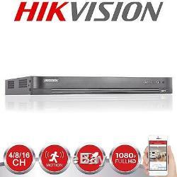 HIKVISION Turbo HD DVR 4/8/16CH 1080P 4MP HDMI VGA CCTV Video Recorder UTP BNC