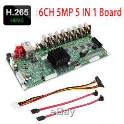 H. 265 CCTV 16CH 5MP XVI/AHD/CVI/TVI/IP Hybrid Network Video Recorder DVR Board