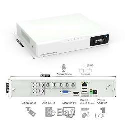 H. View 4CH Hybrid DVR CCTV DVR Recorder 4 Channel H. 264 & KKMOON CAMERA KIT x 4