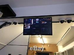 H. View 4CH Hybrid DVR CCTV DVR Recorder 4 Channel H. 264 & Samsung Camera KIT x 4