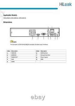 HiLook Hikvision 8CH Turbo HD DVR 4MP CCTV Digital Video Recorder DVR-208Q-K1 UK