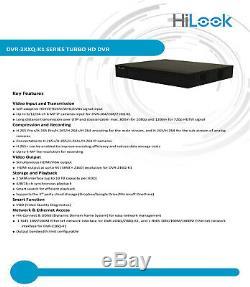 HiLook Hikvision DVR 16CH Turbo HD 4MP 4K CCTV Digital Video Record DVR-216Q-K1
