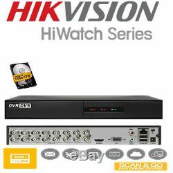 HiWatch CCTV DVR Recorder 4 8 16 2MP 204G-F1 208G-F1 216G-F1 AHD HD Hi Watch UK