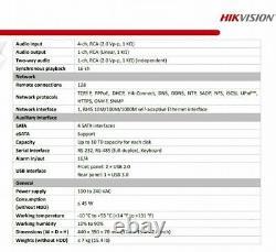 Hikvision 32 CHANNEL DVR 4MP DS-7332HQHI-K4 FULL HD TURBO HYBRID CCTV RECORDER