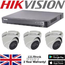Hikvision 5MP CCTV Kit 4CH 8CH DVR Recorder HD Dome Camera Outdoor Weatherproof