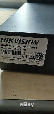 Hikvision 8 Channel D1 RS489 DVD/RW 3TB HDD DVR DS-7308HFI-SH CCTV RECORDER