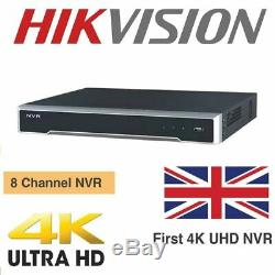 Hikvision 8mp Ip Poe 4k Nvr Cctv Security Recorder 8ch Channel Ds-7608ni-k2/8p