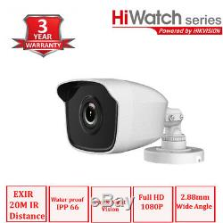 Hikvision CCTV Security Recorder HIWATCH DVR 4CH 8CH Outdoor Camera System Kit