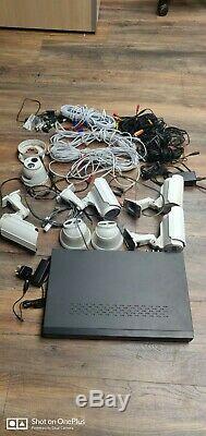 Hikvision DS-7208HWI-SH 8Channel Security Digital Video Recorder 7 Cameras CCTV