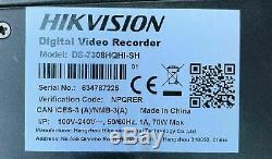 Hikvision DS-7308HQHI-SH 8 Channel Turbo HD Tribrid Hybrid CCTV NVR DVR Recorder