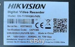 Hikvision DS-7316HQHI-F4 4K 16 Channel Turbo HD Hybrid CCTV NVR DVR Recorder