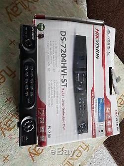 Hikvision Ds-7204 Hvi/st 4 Channel Dvr Cctv Recorder+ 1tb Hd