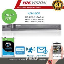 Hikvision Dvr 8ch P2p Recorder Turbo Cctv 1080p Full Hd Chanel Tvi Ahd CVI Hdmi