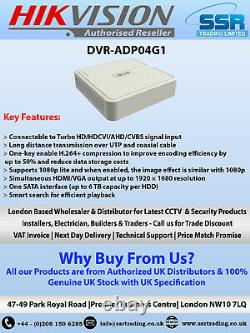 Hikvision HiLook 4 Channel 2MP DVR CCTV Recorders with 500GB/1TB/2TB/4TB HDD