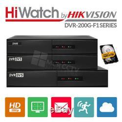 Hikvision HiLook Turbo HD Recorder TVI AHD 1080P TVI CCTV DVR 4 8 16 channel UK