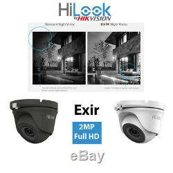 Hikvision Hilook Hd Cctv System 1080p Camera Kit White Grey Dome Recorder Home