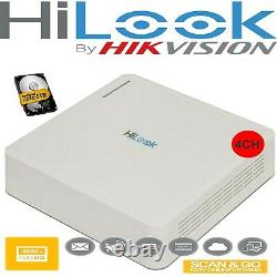 Hikvision Hiwatch DVR-108G-F1 8Ch Or HILOOK DVR-104G-F1 HD Video Recorder HDD UK