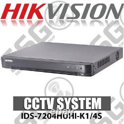 Hikvision IDS-7204HUHI-K1/4S AcuSense Turbo 4ch 5MP DVR CCTV Recorder