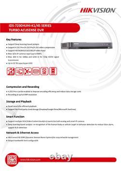 Hikvision IDS-7208HUHI-K1/4S AcuSense Turbo 8ch 4K 8MP DVR CCTV Recorder ONVIF